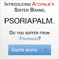 Introducing Atopalm's Sister Brand Psoriapalm. Do you suffer from Psoriasis? Learn More Now